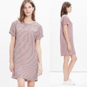 Madewell Filmscore Gingham Check Shirt Dress S